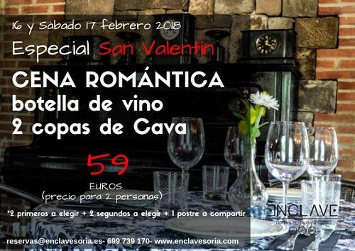 Cena en Soria San Valentín